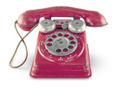 An old fashioned telephone, decorative image for the contact page.
