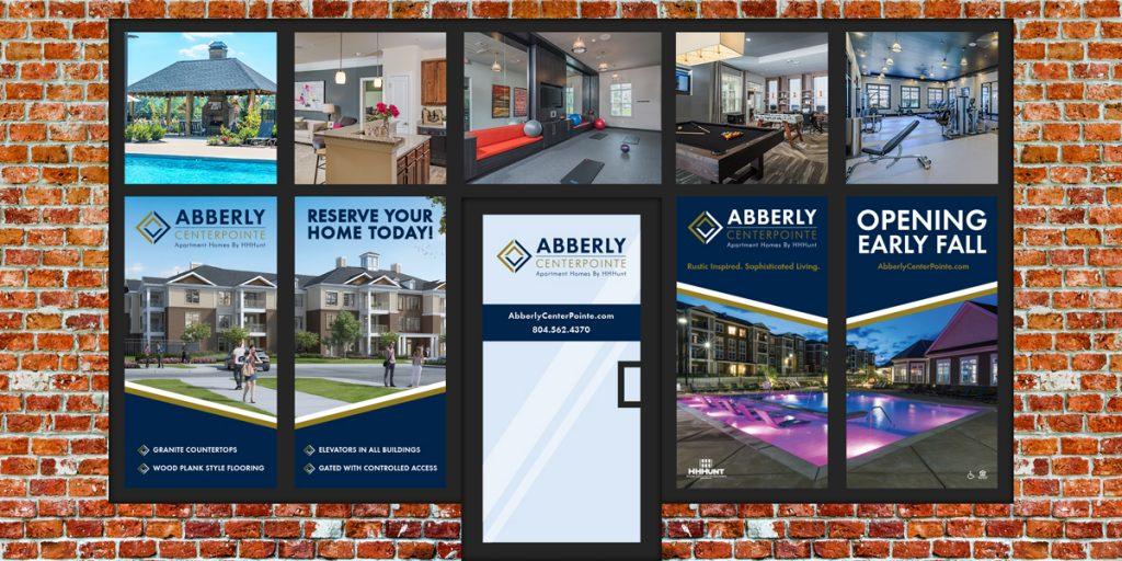 Abberly CenterPointe - Leasing Center Window Graphics