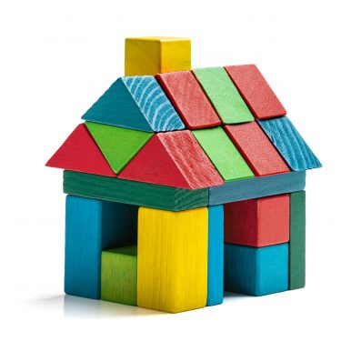 A house made of toy blocks