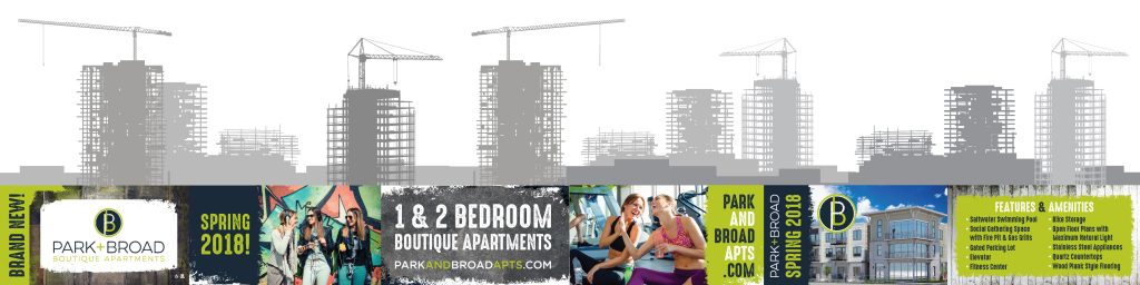 Park + Broad Apartment Homes - Construction Banner