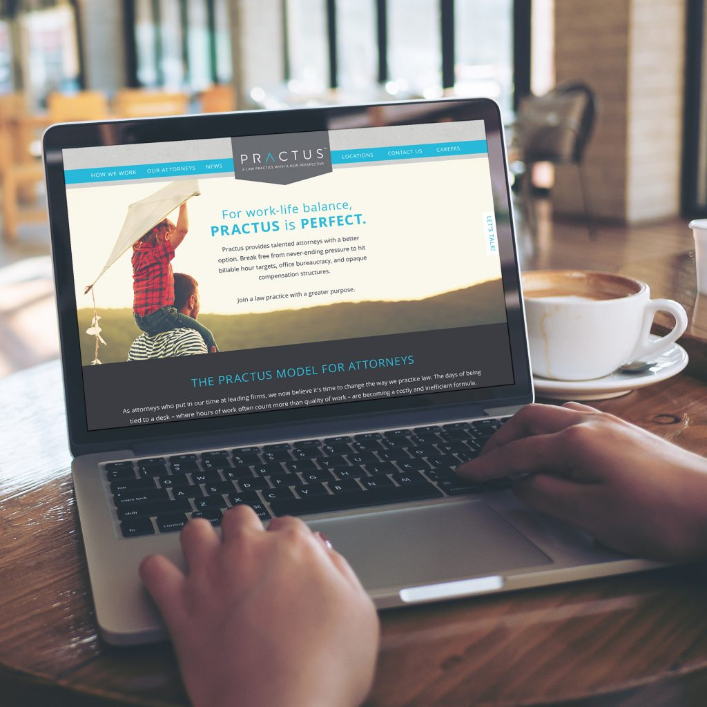 Practus Law Firm - Web Design