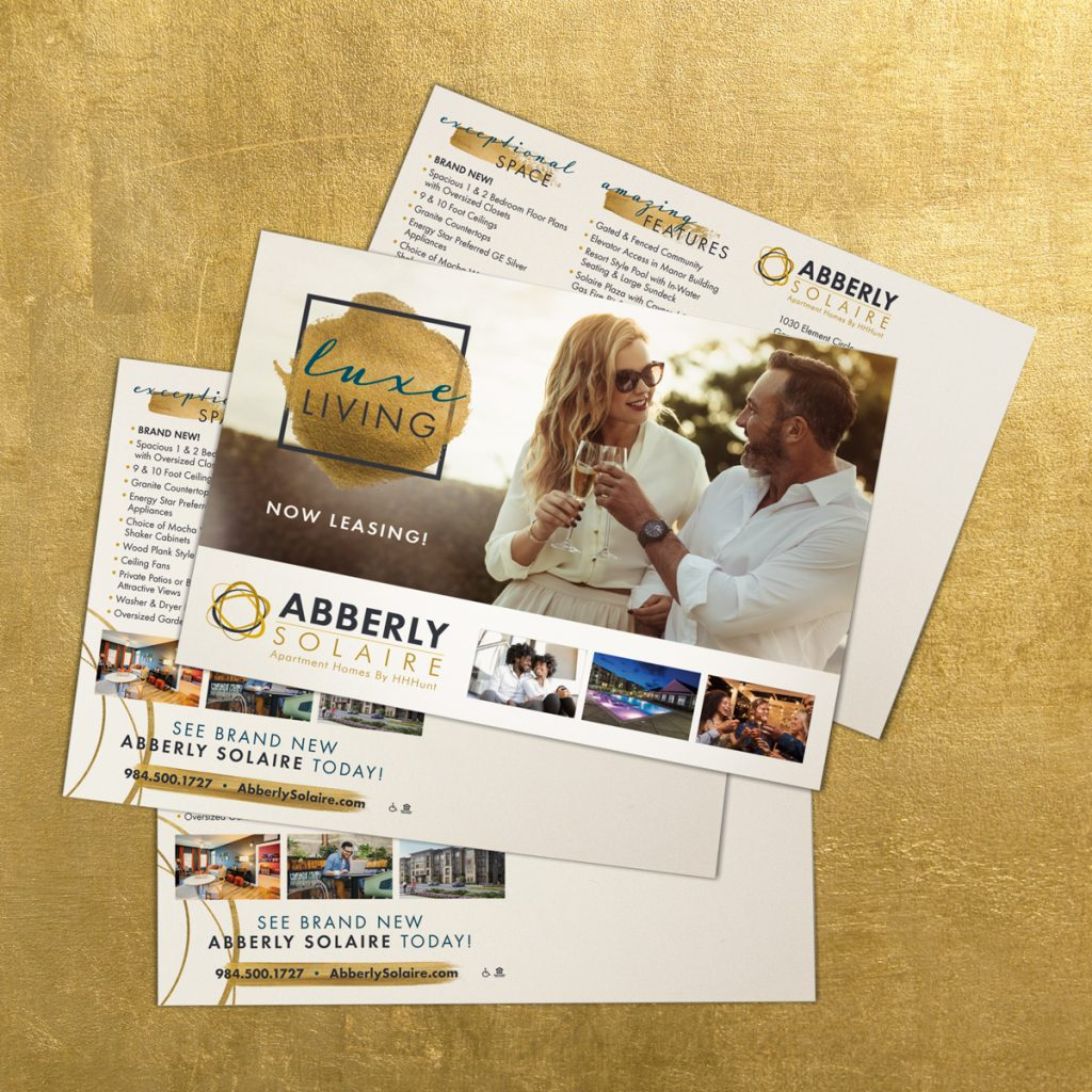 Abberly Solaire Apartment Homes - Direct Mail Campaign